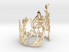 Growing Bracelet v.1  in 14k Gold Plated Brass