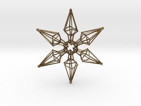 6 Point Ninja Star - 7cm in Polished Bronze