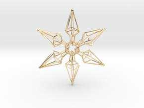 6 Point Ninja Star - 7cm in 14k Gold Plated Brass