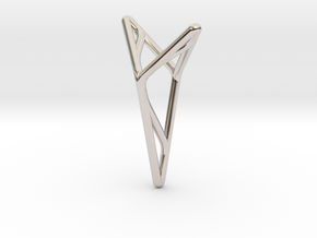 YOUNIVERSAL M3, Pendant. Stylized Pureness in Rhodium Plated Brass