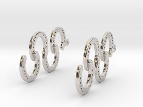 Horseshoe Earring in Platinum