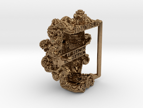 Mandelbulb Belt Buckle - Precious Metal version in Natural Brass