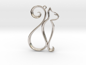 The Cat Pendant in Platinum
