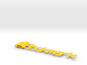 Generic Bookmark  in Yellow Processed Versatile Plastic