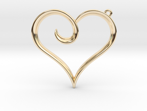 The Heart Pendant in 14K Yellow Gold