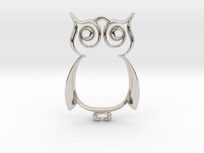 The Owl Pendant in Platinum