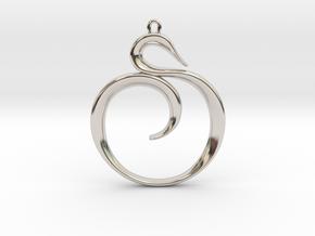 The Spiral Pendant in Platinum