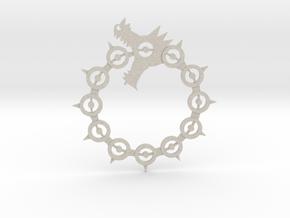 Maliodas The Dragon Sin logo in Natural Sandstone