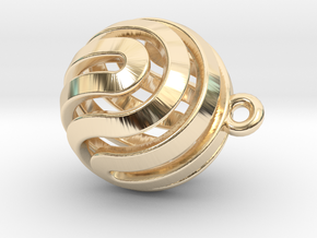 Ball-small-14-3 in 14K Yellow Gold