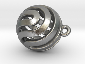 Ball-small-14-3 in Natural Silver