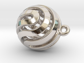 Ball-small-14-3 in Rhodium Plated Brass