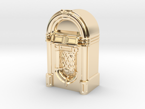 28mm/32mm scale JukeBox  in 14k Gold Plated Brass