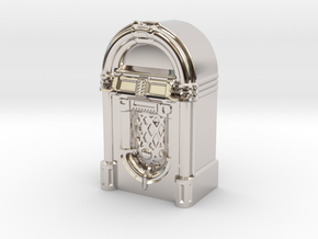 28mm/32mm scale JukeBox  in Rhodium Plated Brass