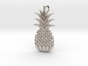 Reddit Pineapple Trees LOGO in Rhodium Plated Brass