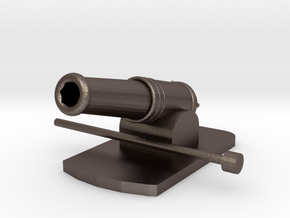 Miniature Metal Functional Cannon in Polished Bronzed Silver Steel