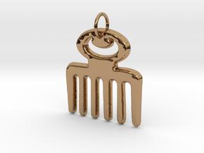 DUAFE (Adinkra Symbol of Feminine Beauty) in Polished Brass