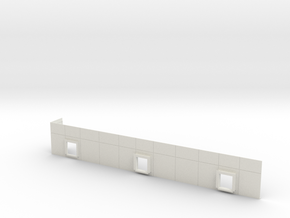 Rail Docks #3 in White Natural Versatile Plastic