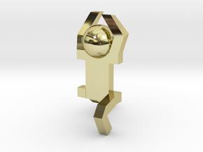 Board Game 'Tsumi Yoga' Block#4 in 18k Gold Plated Brass