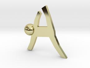 Board Game 'Tsumi Yoga' Block#10 in 18k Gold Plated Brass
