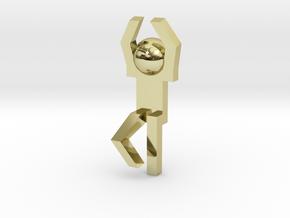 Board Game 'Tsumi Yoga' Block#14 in 18k Gold Plated Brass