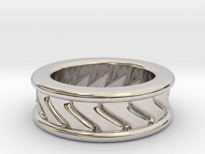 Chunky Vortex Ring in Rhodium Plated Brass