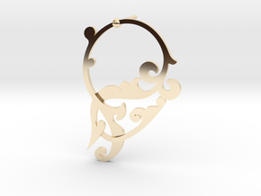 CODE SL02Z4 - EARING in 14k Gold Plated Brass