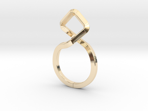 A-LINE Dancing D.011 Ring US size 3.5, d=14,5mm in 14k Gold Plated Brass: 3.5 / 45.25