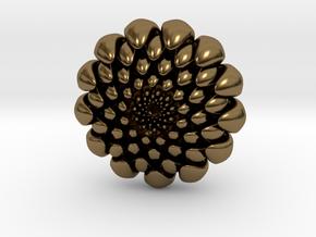 chrysanthemum -kiku- in Polished Bronze