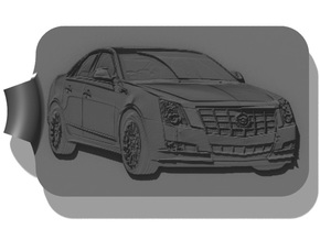Cadillac CTS-V Key Fob in Black Strong & Flexible