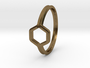 A-LINE Honey Ring H.02, US size 6, d=16,5mm  in Natural Bronze: 6 / 51.5