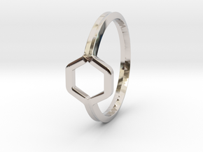 A-LINE Honey Ring H.02, US size 6, d=16,5mm  in Platinum: 6 / 51.5