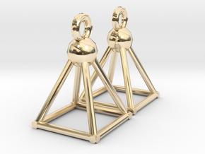 Piramid earrings in 14K Yellow Gold