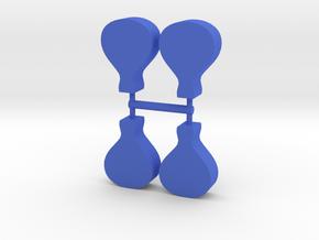 Hot Air Balloon Meeple, 4-set in Blue Processed Versatile Plastic