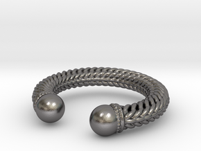 Viking Ring Alfa in Polished Nickel Steel