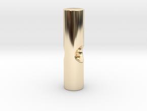 Umbrella rib tip 3mm plastic - 2.6mm metal in 14k Gold Plated Brass