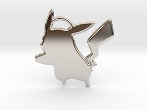 Pikachu Keychain in Platinum