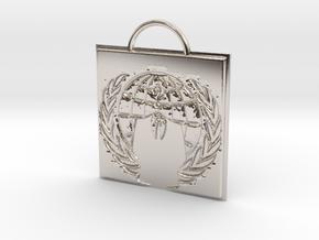 Anonymous logo keychain in Platinum