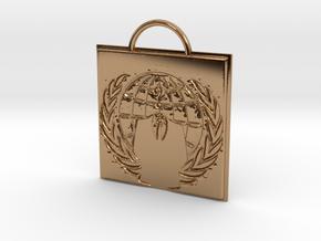 Anonymous logo keychain in Polished Brass