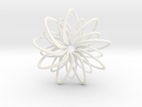 9 Point Slinky Star - 5cm in White Processed Versatile Plastic