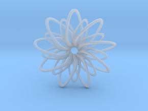 9 Point Slinky Star - 5cm in Smooth Fine Detail Plastic