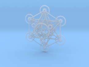 Metatron's Cube - 8cm - wStand in Smooth Fine Detail Plastic