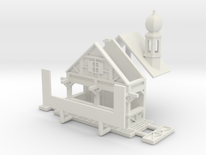Zwiebelturmbude - 1:220 (Z scale) in White Natural Versatile Plastic