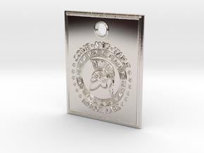 Molon Labe Spartan Pendant in Platinum