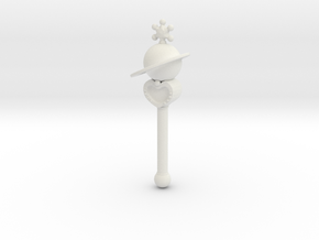 sm wands saturn: miniature 1/6 for dolls in White Natural Versatile Plastic