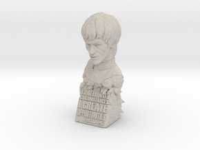 Bruce Lee Bust with Quote, Size M in Natural Sandstone