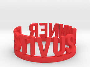 DRAW Festivus - Festivus Dinner ring in Red Strong & Flexible Polished