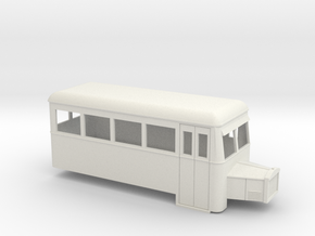 009 railbus single ended with bonnet (narrow type) in White Strong & Flexible
