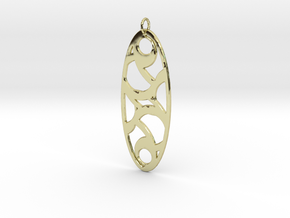 Circle Pendant in 18k Gold Plated Brass