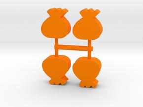Sack Meeple, 4-set in Orange Processed Versatile Plastic