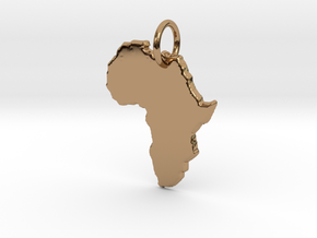 Africa country map Pendant  in Polished Brass